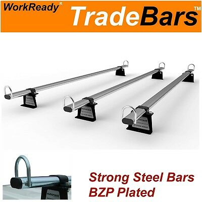 TRADE-BARS Roof Rack Bars for FORD TRANSIT CUSTOM VAN (2013-onward) 3 bar rack