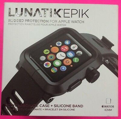 LUNATIK - EPIK-001 Polycarbonate Case and Silicone for Apple Watch™ Black (C1)