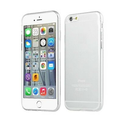 Transparent Clear Silicone Slim Gel Case and Screen Protector for iPhone 6 & 6S
