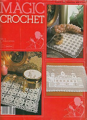 Magic Crochet #26 August 1983 - 27 patterns doilies tablecloth bedspreads more