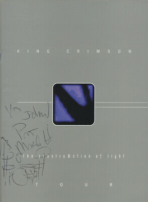 KING CRIMSON 1999 Tour Concert Program Autographed Pat Mastellotto