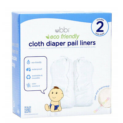 Ubbi Bin Eco Friendly Plastic Liner Bag 25 Pack Up To 1,050 Newborn Nappy Diaper