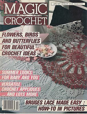 Magic Crochet #47 April 1987 - 37 patterns doilies bedspreads cushions more