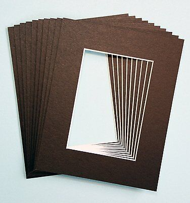 Pack of 10 BLACK 8x10 Picture Mats Matting with White Core by topseller100 NEW