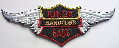 Hard Core Biker Babe Sew Or Iron On Biker Motorcycle Patch