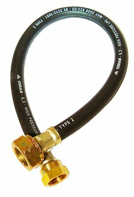 Butane Gas Pigtail Hose for Bulkhead Regulator in Caravan/ Motorhome 450mm