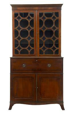 19Th Century George Iii Hepplewhite Design Mahogany Secretaire Bookcase
