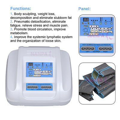 Air Pressure Suit Far Infrared Lymph Drainage Weight Loss Pressotherapy Machine