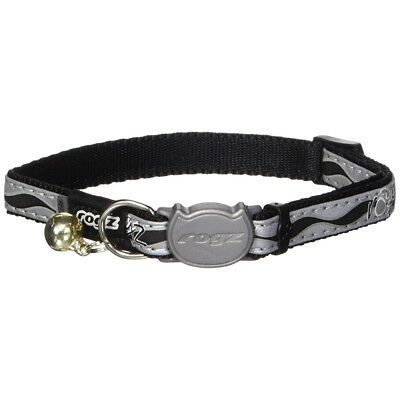 Rogz Reflective Cat Collar Nightcat Lime Safety Buckle Small Neck 8-12in