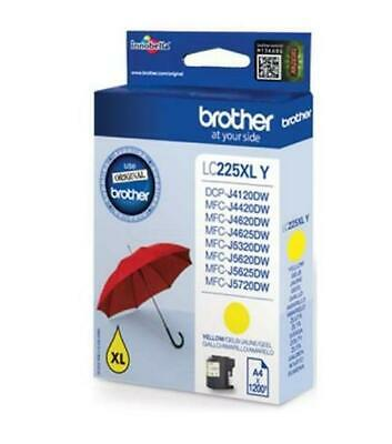 Brother LC225XL High Yield Inkjet Cartridge (Yellow) 1200 Page Yield