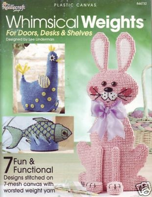 Whimsical Weights plastic canvas door stop patterns - 2004