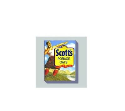 Dolls House Miniature Food: Scott's Porage Oats Packet in 12th scale