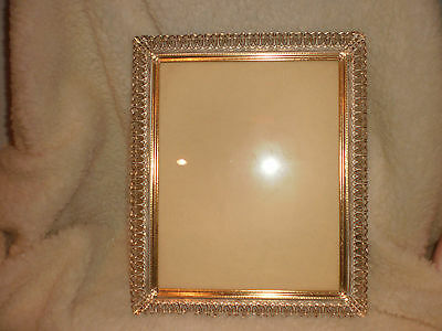 VINTAGE HOLLYWOOD REGENCY ANTIQUE FRENCH WHITE SCROLLED METAL PICTURE FRAME 8x10