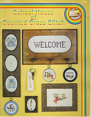 School House of Counted Cross Stitch Book 8 pattern book copyright 1981