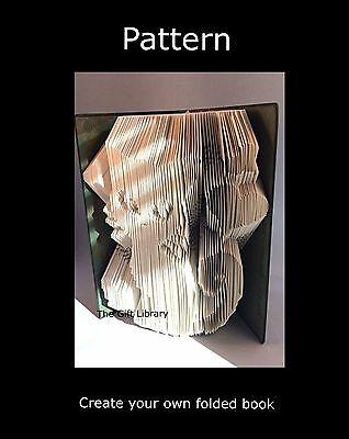 Book Folding Pattern~Folded Book art Patterns~Cat and hearts