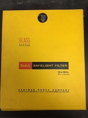 Kodak Wratten Series #10 Safelight Filter 10x12""