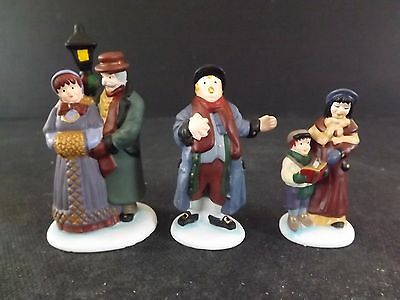 "Dept 56 Dickens' Vlge ""town Square Carolers"" - 3Pc - #58327 - New In Box"