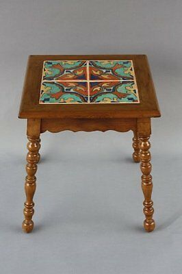 1920s Tile Table Tudor Company Los Angeles Colorful Tiles California (7610)