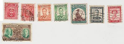 (JM-37) 1924-48 South Rhodesia mix of 8 1d to 4d