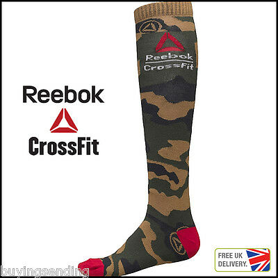 Brand New Reebok Crossfit Camouflage Gravel Socks Long Knee High Unisex Coolmax