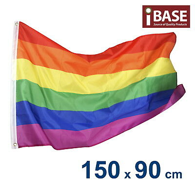 Rainbow Gay Lesbian Pride Banner Flag Outdoor Garden Polyester 150x90cm 5x3ft