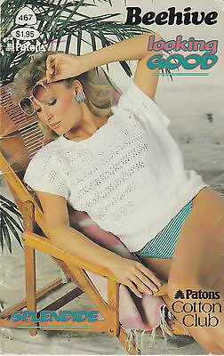 Beehive Looking Good women's sweater knitting pattern book - 1985