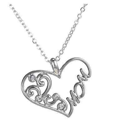 Silver Mothers Love is forever symbolic gift for Mum day  Pendant Necklace N572