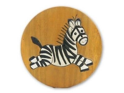 Childs Childrens Wooden Stool, Chair - Zebra Design Step Stool
