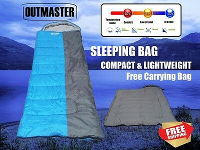 Outdoor Camping Sleeping Bag Tent Hiking Winter Compact Softer -10°C 220x80cm