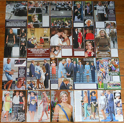 QUEEN MAXIMA OF THE NETHERLANDS spanish clippings photos magazine royalty