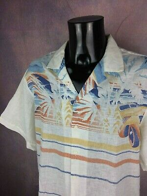 ONTARIO Chemise Shirt Camisa True Vintage 80s Made in France Car Beach Summer
