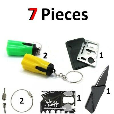 Credit Card Knives 11 in 1 Multi Tool wallet thin pocket survival micro knife