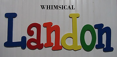 "12"" size Painted Wooden Wall Letters Children Nursery Playroom Names Whimsical"