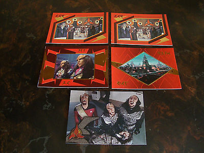 1996 Skybox---Star Trek TNG---Klingon Foil Cards---Lot Of 5---See List