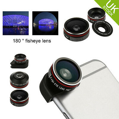 BASEUS 3 in 1 Fish Eye + Macro + Wide Angle Camera  Zoom Lens Kit For IPhone 6