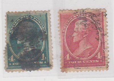 (JN-41) 1862 USA 4d green & red 4d (space fillers)