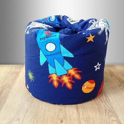 Children's Bean Bag Space Boy Planets Rocket Kids Bedroom Furniture Beanbag Seat
