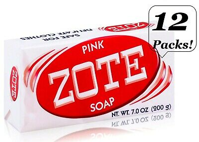 10 Pack ZOTE Pink Laundry Clothes Hand Wash Soap For Stain 7oz (200g) Jabon Zote