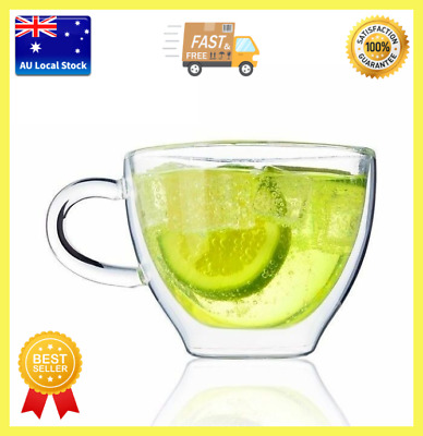 Double Wall Small Glass Coffee Cup Tea Cup Juice Cup 200ml