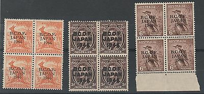 Bcof Japan Australia 1946 1/2D 3D And 6D Blocks */**