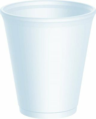 8oz Polystyrene Cups Takeaway/Cafe **choose qty with or without lids**