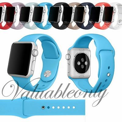 Strap Bracelet Band Silicone Fitness Replacement For Apple Watch iWatch 42mm/38