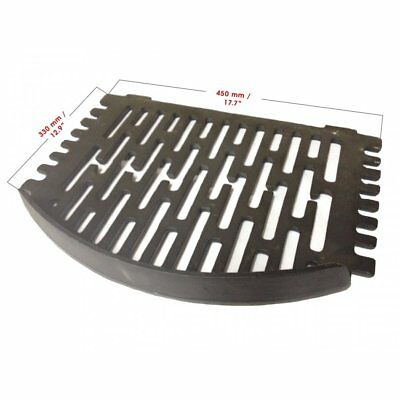 "Grant Round Cast Iron Bottom Fire Grate 18"" - Open Fire"