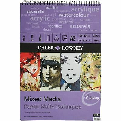 Hobbycraft Daler-Rowney Mixed Media Sketchbook A2 Drawing Pad Paper Assorted