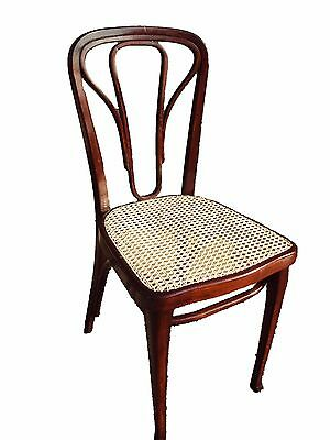 Antique Art Nouveau set of 6 chairs, No. 623, Thonet, Vienna, Signed, ca. 1910