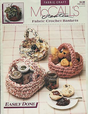 McCall's Fabric Crochet Baskets pattern booklet - 1991