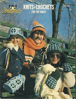 Phentex Knits & Crochets for the Family - hats mittens ponchos afghan more