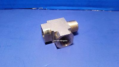 Solid Brass Street Pipe Tee 3/8 Inch Male Two 3/8 Female NPT Air Fuel Water