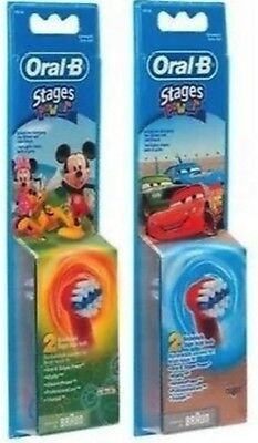 Braun Oral-B Mickey Mouse , Disney Cars Kids Toothbrush Replacement Brush Head
