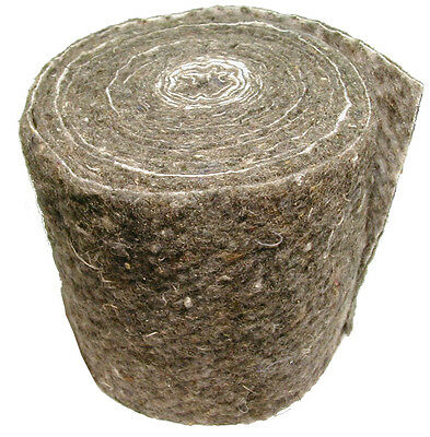 Wool Felt Pipe Insulation Lagging 7m Long Roll   Suits 15mm and 22mm Pipe